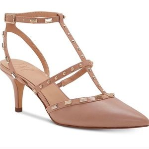 INC studded pointed kitten heel pumps 8.5